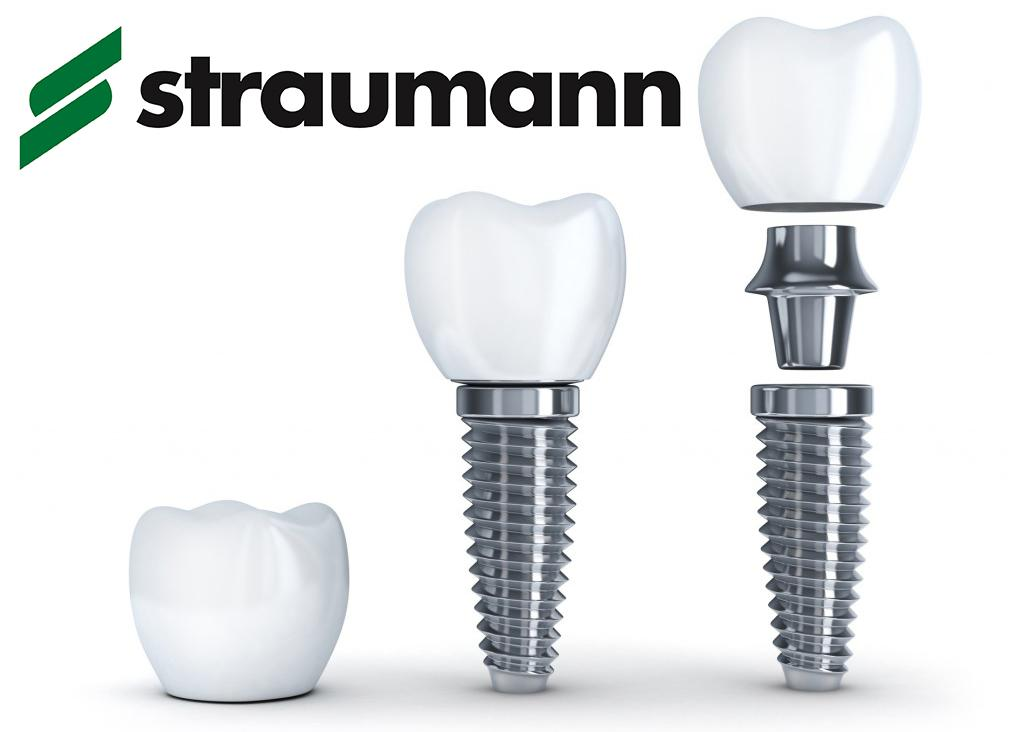 Имплант Straumann с постоянной коронкой